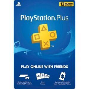 ⚡DIGITAL CODE⚡ PS Network PlayStation Plus: 12 Month Membership - PS5, PS4, Vita