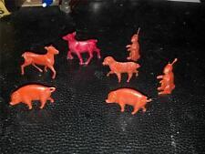 Lot of 7 Vintage Miniature Tim-Mee Farm Animals