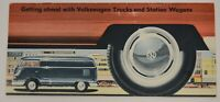 1958 Volkswagen VW Trucks Vans Bus Station Wagon Dealership Sales Brochure Vtg