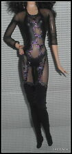 OUTFIT MATTEL BARBIE MODEL MUSE DOLL CHER BOB MACKIE DESIGN GLITTER BODYSUIT