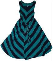 New Women's Isabel Maternity Clothes Navy Green Chevron Dress NWT S M L XL XXL