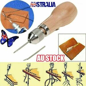Sewing Awl Needle Tool Kit Stiching Speedy Stitcher for Leather Sail & Canvas AU