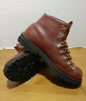 Vintage Danner 3052 Brown Leather Hiking Boots  USA Size 7.5 EE Wide Men's Shoes
