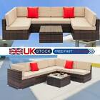 Rattan Garden Furniture Lounge Set Black Blue Outdoor Sofa Chair Corner Patio Uk
