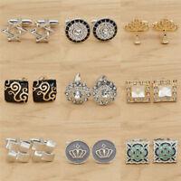 Classic Shirt Cufflinks Cuff Links for Business Man Party Wedding Jewelry Charm