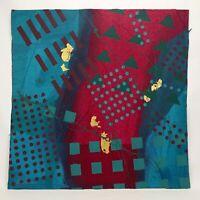 "Frank Rowland Mixed Collage Media Art 24"" x 24"" Signed Original Artwork Lot #1"