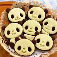 Cartoon Panda Cookies Cutter Stamp Biscuit Mould Set Baking Tools Plsei S5F6