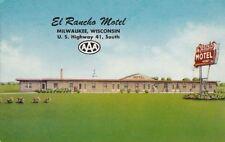Postcard El Rancho Motel Milwaukee Wi