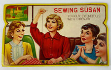 Vintage Sewing Susan Needles w/ Threader