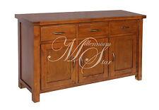 Solid Wood Chunky Dark Oak Large Sideboard Cupboard Cabinet
