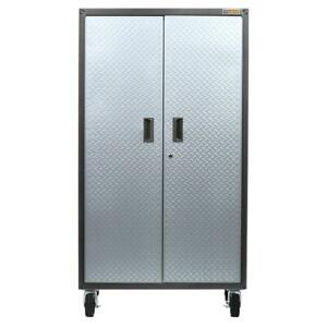 Ready-to-Assemble Steel Cabinet Hammered Granite 36 in. W x 66 in. H x 18 in. D