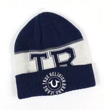 536b416e True Religion Navy Blue Watchcap Beanie Hat TR 2405t