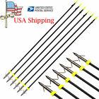 6X Archery Bowfishing Arrow W/Broadheads F Recurve Compound Bow Fishing Hunting