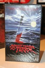 Night Train to Terror Prism Clamshell Big Box Horror VHS Gore RARE Release