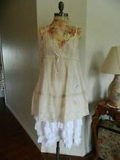 Jeanne d'arc magnolia floral eyelet lace ivory pearl tunic XL
