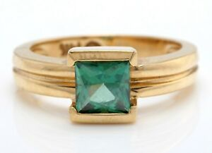1.50 Carat Evergreen Topaz in 14K Solid Yellow Gold Ring