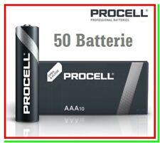 pile duracell aaa batterie mini stilo procell alcaline 1236mAh pila batteria x50