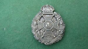 VICTORIAN HALLMARKED SILVER OFFICERS PRINCE CONSORTS OWN SHAKO / POUCH BADGE