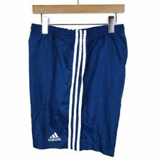 Vintage 90s Adidas 3 Stripes Mens Blue Swim Shorts Size XL