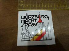 Aufkleber Würzburg macht Spass! 80/90 Jahre