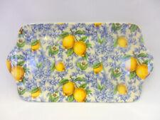 Blue Lemons sandwich plate