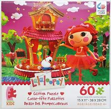 CEACO® KIDS 60pc LALALOOPSY • TIPPY TUMBLELINA™ • GLITTER PUZZLE Jig Saw AGES 4+
