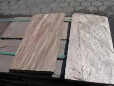 Terrassenplatten 1 qm 30x60x3cm verblender Natursteinplatten Quarzit bronze
