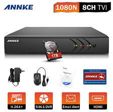ANNKE 8CH 1080N 5IN1 HDMI DVR CCTV Security System Motion Recorder DN81R + 1TB