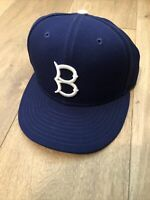 Brooklyn Dodgers MLB Authentic New Era Cooperstown 59FIFTY Fitted Cap 5950 Blue