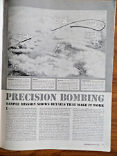1943 Article Ad WW 2 Theme  Precision Bombing Sample Mission Shows Details Work
