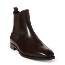 Ralph Lauren Mens Purple Label Italy Barnham Brown Leather Chelsea Boots Boot