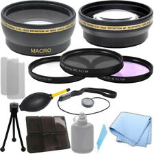 52mm 0.43x Wide Angle 2.2x Telephoto Lens, Filter Kit for Nikon D3200 D5000