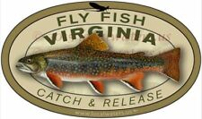 Fly Fish Virginia Sticker Brook Trout decal Catch and Release 3 yrs no fade