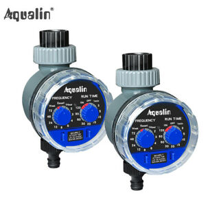 2pc Automatic Water Tap Timer Home Garden Irrigation Controller System