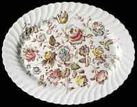 """Johnson Brothers STAFFORDSHIRE BOUQUET 13 3/4"""" Oval Serving Platter 284265"""