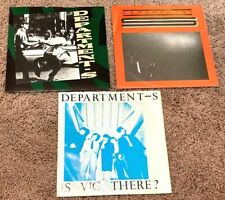 """(3) DEPARTMENT S VINYL 7""""s 1980 IS VIC THERE? 1981 GOING LEFT RIGHT ' UK PUNK"""