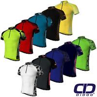 Didoo Men's Summer Cycling Jerseys Breathable Short Sleeve Biking Tops Mountain