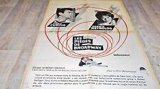 LES PIEGES DE BROADWAY the rat race   !  affiche cinema 1961