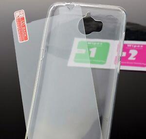 Full Transparent Flexible Handytasche Tasche Bumper + 9H Glas für Huawei Y6 2017