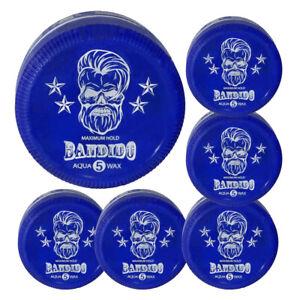 6x Bandido Aqua -5- Hair Wax Blue - 150ml - Bubblegum Fragrance