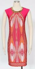 Sandra Darren Poppy Pink Multi Shift Dress Size 8P Women's Polyester New *