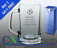 Personalised Engraved Glass Tankard Football Award Trophy Gift Sports