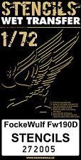 272005 HGW Wet Transfers - Focke-Wulf Fw 190D Stencils 1:72
