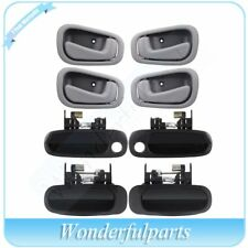 For 98-02 Corolla 8Pcs Door Handles  Right/Left Side Front & Rear