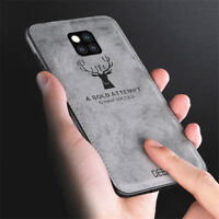 For Huawei Mate 20 Pro For Mate 20 Lite Fabric+TPU Pattern Soft Matte Case Cover