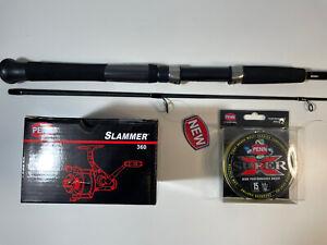 **NEW** Penn Slammer 360 Reel Penn Mariner II 662ML Spin Combo & Penn 15lb Braid