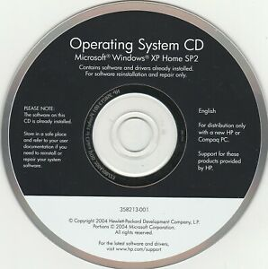 HP Operating System CD software for Microsoft Windows XP Home SP2~  2004