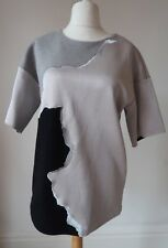 Other Stories T Shirt Jumper Size 12 Jersey Silver Grey Oversized Heavy I