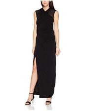 Coast Women's Iris Black Full Length Evening Cocktail Dress Size UK 16