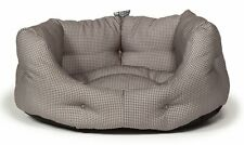 Danish Design Vintage Dogstooth Deluxe Slumber Bed in Grey, MEDIUM